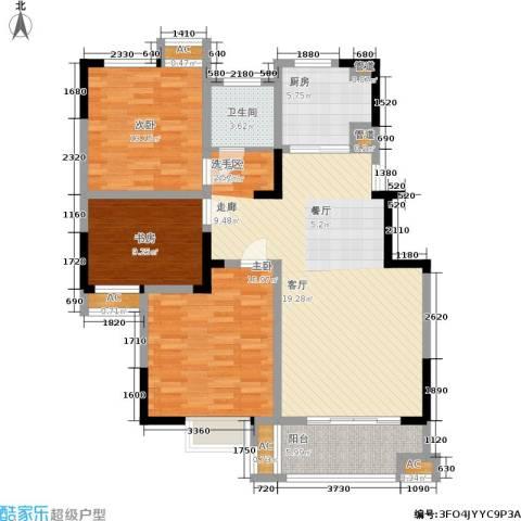 三金燕语庭3室0厅1卫1厨108.00㎡户型图