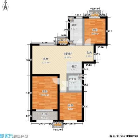 中国铁建・环保嘉苑3室1厅1卫1厨103.00㎡户型图
