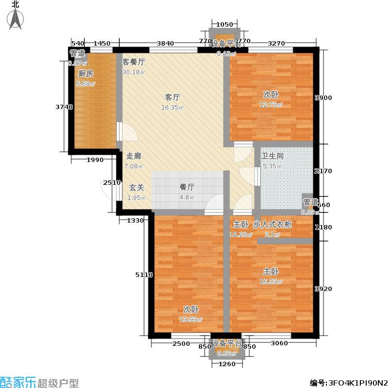 北京城建·畅悦居101.00㎡A2号楼B5户型3室1厅
