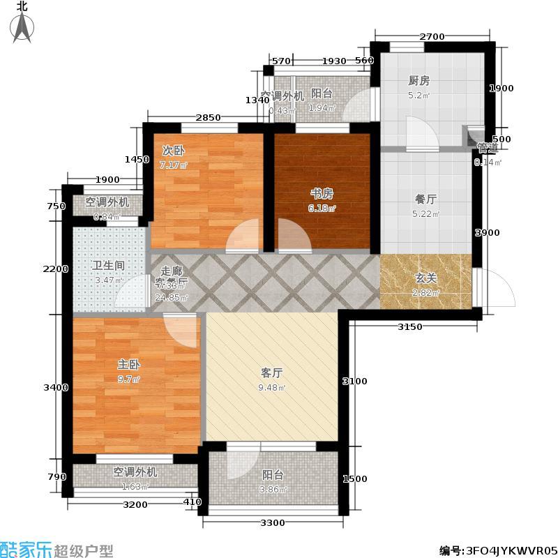 联投龙湾89.61㎡二期11、12、13号楼H户型