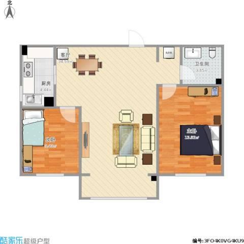 御龙庭2室1厅1卫1厨115.00㎡户型图