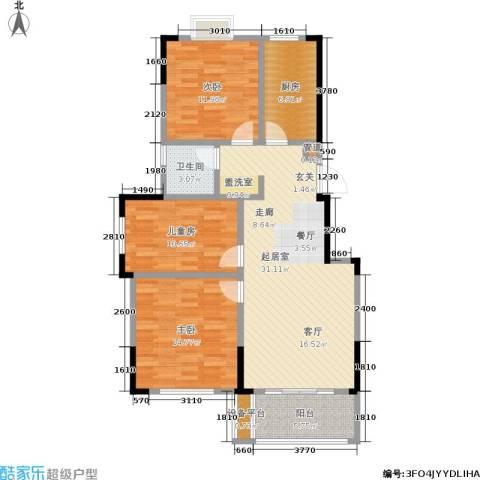 爱涛天逸园3室0厅1卫1厨96.00㎡户型图