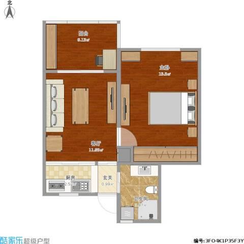 程桥二村1室1厅1卫1厨56.00㎡户型图