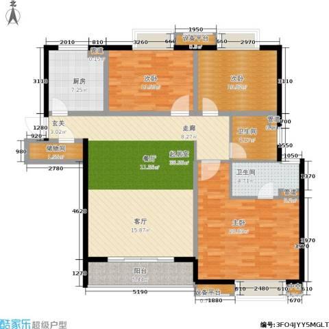 世茂君望墅3室0厅2卫1厨122.00㎡户型图