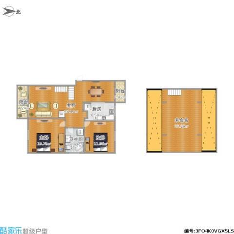 滨浦新苑2室1厅1卫1厨181.00㎡户型图