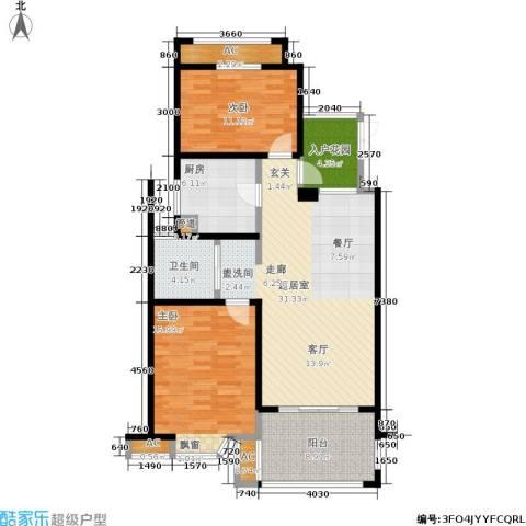 凯阳花园2室0厅1卫1厨98.00㎡户型图
