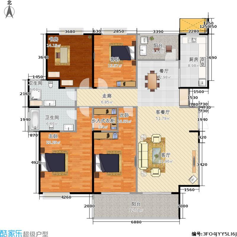南京海峡城177.00㎡一期1-3号楼标准层D1户型