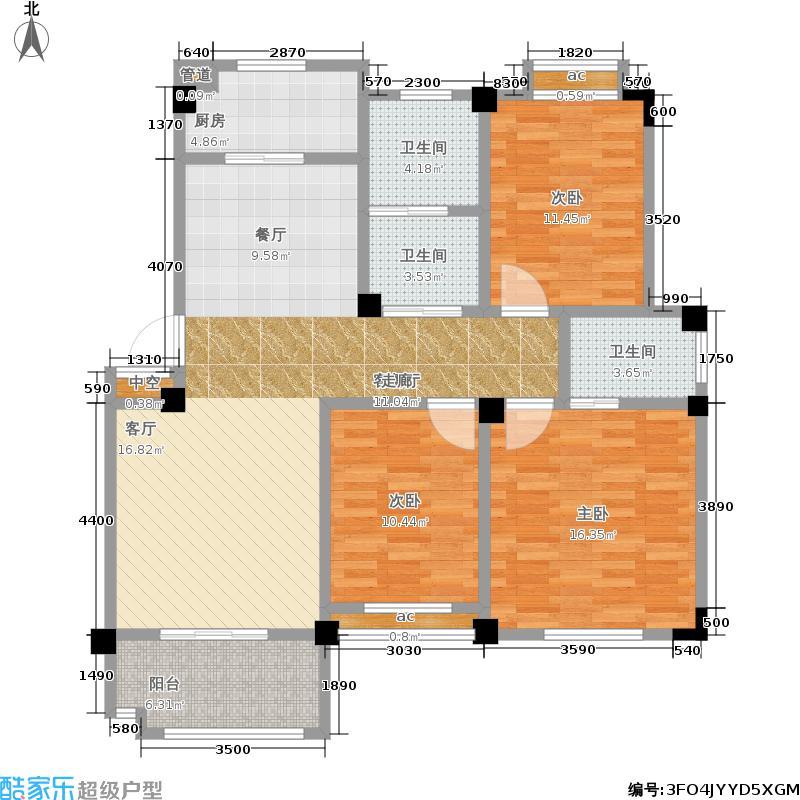 恒建金陵美域114.00㎡二期4号楼标准层E户型