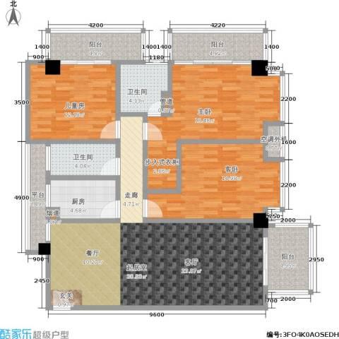 颐和雅轩3室0厅2卫1厨136.00㎡户型图