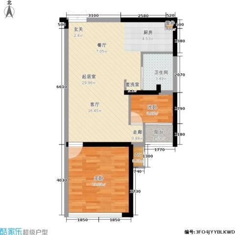 石林中心城2室0厅1卫0厨60.00㎡户型图