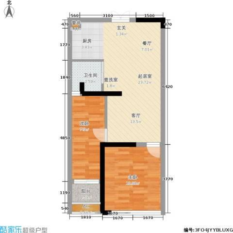 石林中心城2室0厅1卫0厨55.00㎡户型图