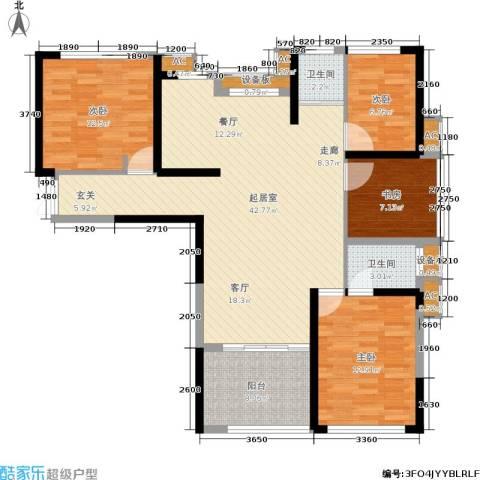 石林中心城4室0厅2卫0厨113.00㎡户型图
