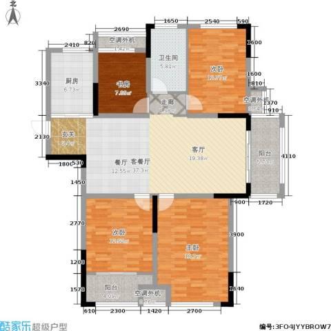 天淳江南4室1厅1卫1厨131.00㎡户型图