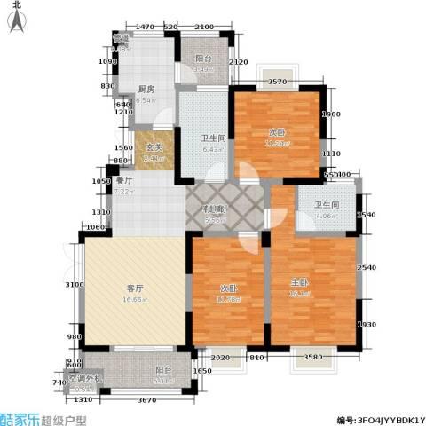 龙海骏景3室1厅2卫1厨113.00㎡户型图