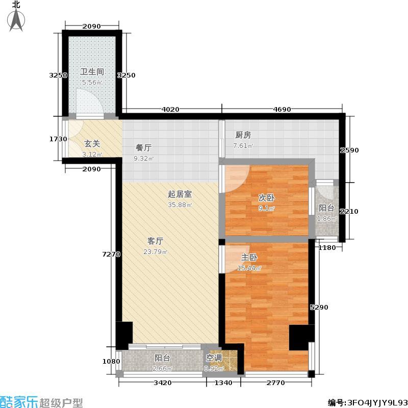 中国中华城92.50㎡B1&B2栋D户型