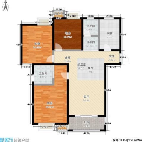 牧龙湖壹号3室0厅3卫1厨117.00㎡户型图