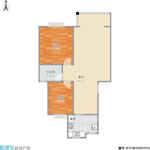 畅园2室1厅1卫1厨98.00㎡户型图