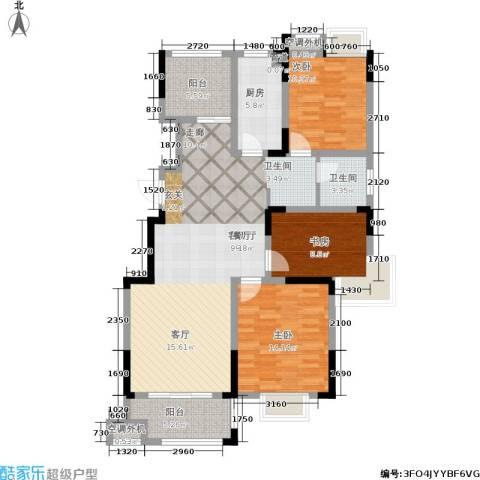 龙海骏景3室1厅1卫1厨110.00㎡户型图
