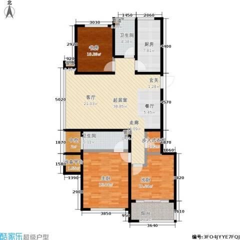 翠屏诚园3室0厅2卫1厨119.00㎡户型图