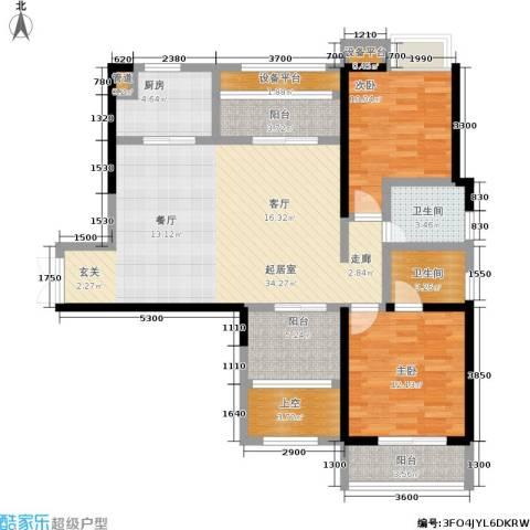 硚房翰林珑城2室0厅2卫1厨109.00㎡户型图