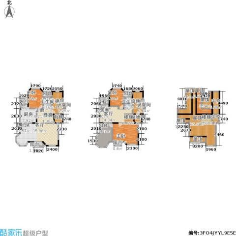 万山庭院3室0厅2卫1厨240.00㎡户型图