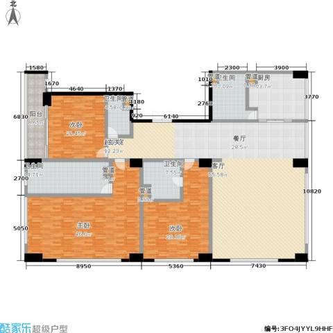 中城国际广场3室0厅4卫1厨283.00㎡户型图