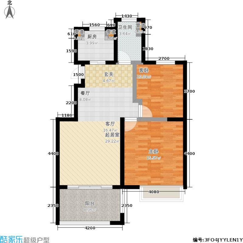 翠屏托乐嘉92.62㎡贵邻居组团E01#楼标准层F3户型