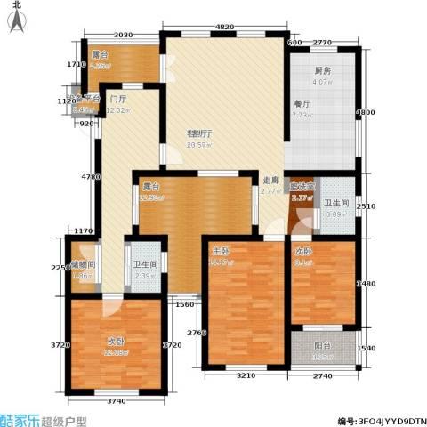 葵花社3室1厅2卫0厨134.00㎡户型图