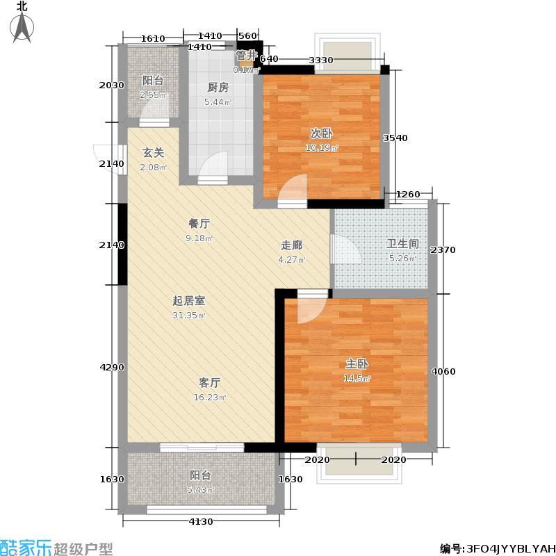 和府奥园86.00㎡一期4号楼标准层C户型