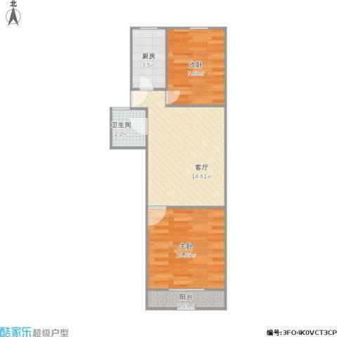 新泾五村2室1厅1卫1厨56.00㎡户型图