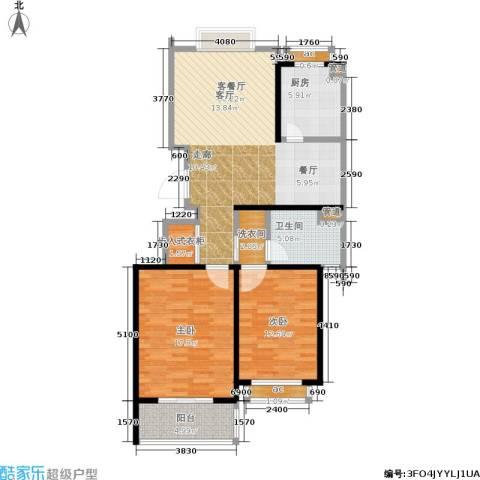 香缇郡2室1厅1卫1厨94.00㎡户型图