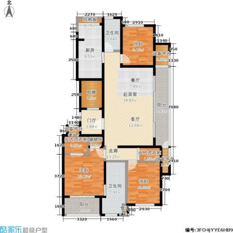 翠屏诚园3室0厅2卫1厨139.00㎡户型图