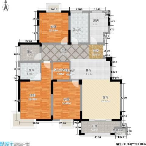 龙海骏景3室1厅2卫1厨142.00㎡户型图