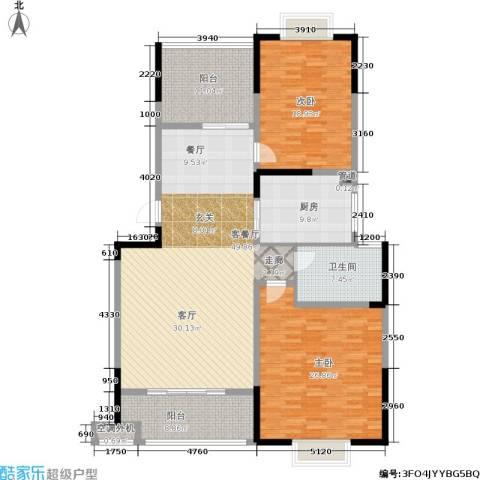 龙海骏景2室1厅1卫1厨150.00㎡户型图