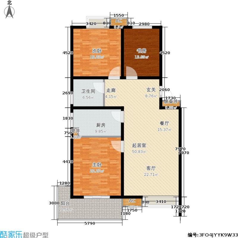 都市尚品151.00㎡一期20-22号楼标准层A3户型