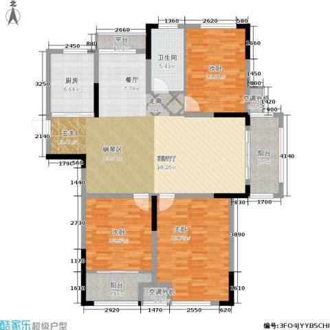 天淳江南3室1厅1卫1厨131.00㎡户型图