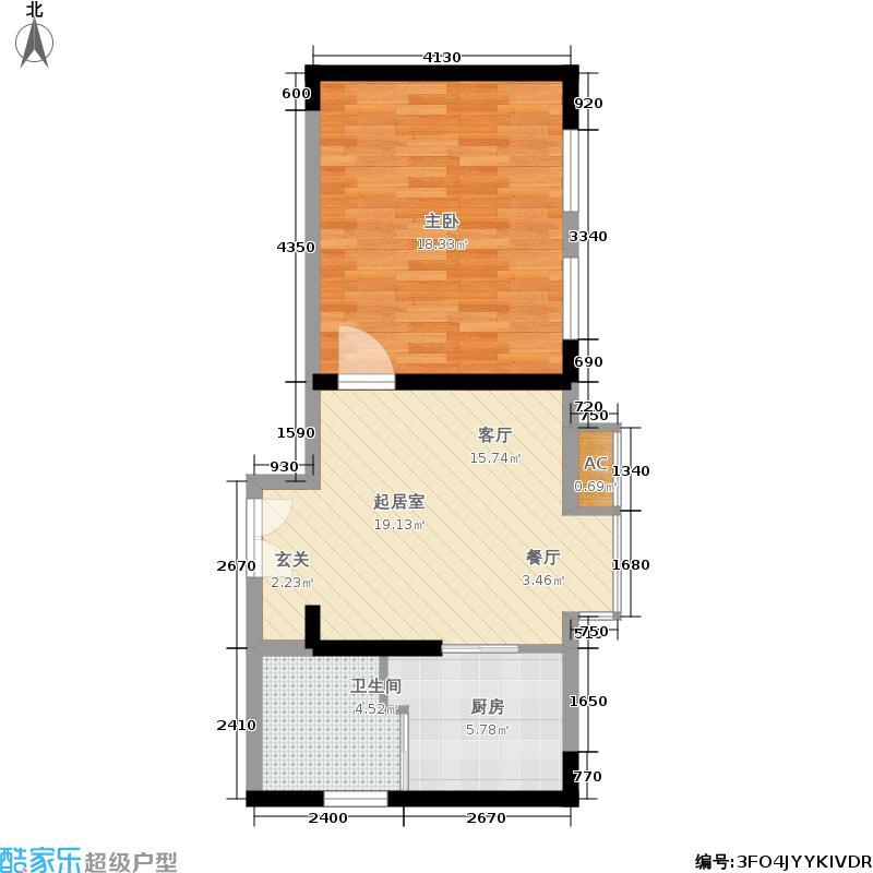 璟湖国际55.00㎡�湖国际一期1-5号楼标准层A户型