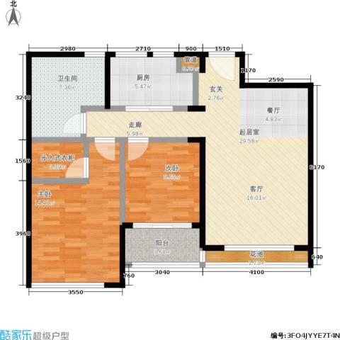翠屏诚园2室0厅1卫1厨85.00㎡户型图