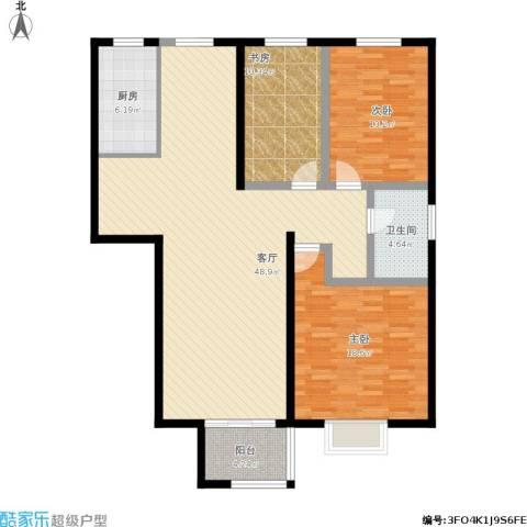 万科金色城品3室1厅1卫1厨150.00㎡户型图