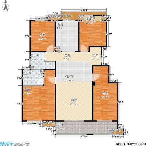 万科金色半山4室1厅2卫1厨140.00㎡户型图