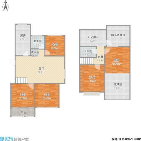 裕华名居城5室1厅2卫1厨194.00㎡户型图