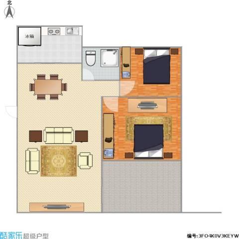 世纪阳光新尚城2室1厅1卫1厨538.00㎡户型图
