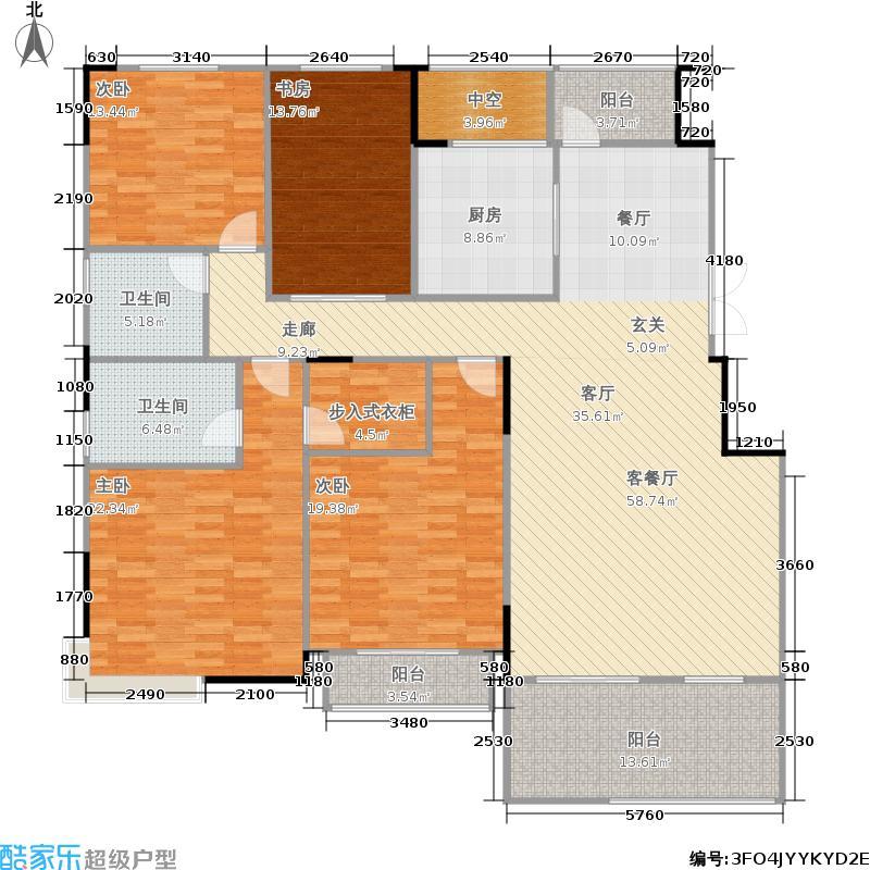 国信来凤街1号186.00㎡一期03栋C层叠墅户型