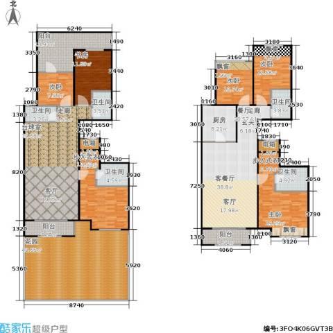 龙湖・长楹天街6室1厅5卫1厨280.00㎡户型图