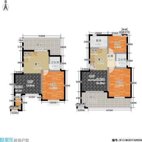幸福美地3室0厅2卫1厨134.00㎡户型图
