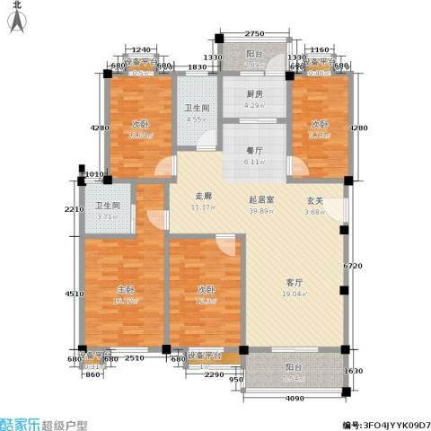 金湖家园4室0厅2卫1厨126.00㎡户型图