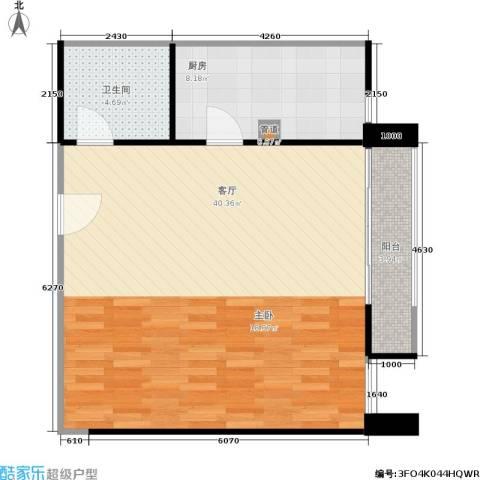 远见名苑1厅1卫1厨72.00㎡户型图