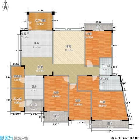 南国明珠4室1厅2卫1厨193.00㎡户型图