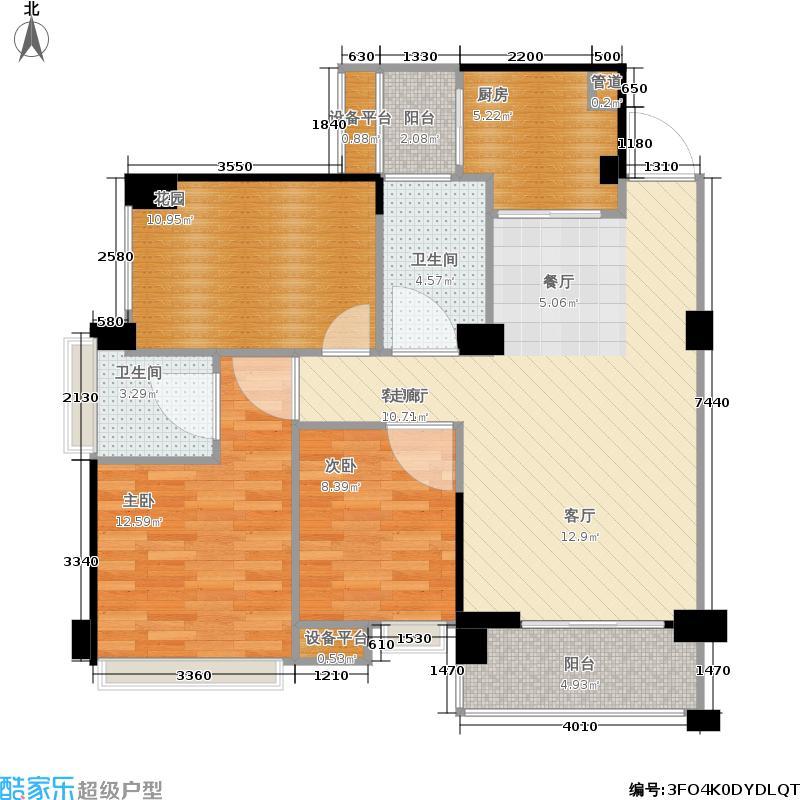 戛纳湾88.21㎡二期1、2、3号楼观滩领邸户型