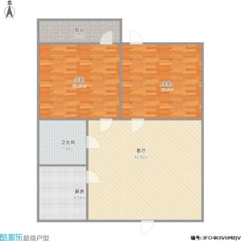 花园小区2室1厅1卫1厨148.00㎡户型图
